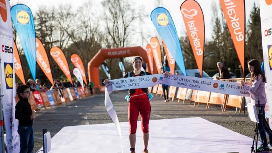 Silvia Trigueros en la Basque Ultra Trail de Bilbao-Gasteiz.
