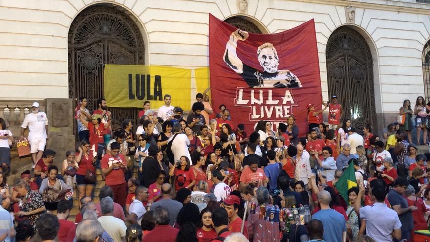 Movilizaciones en Río de Janeiro por la liberación de Lula da Silva