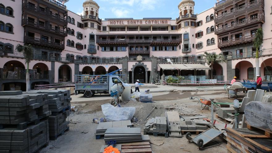 Obras en el hotel Santa Catalina.