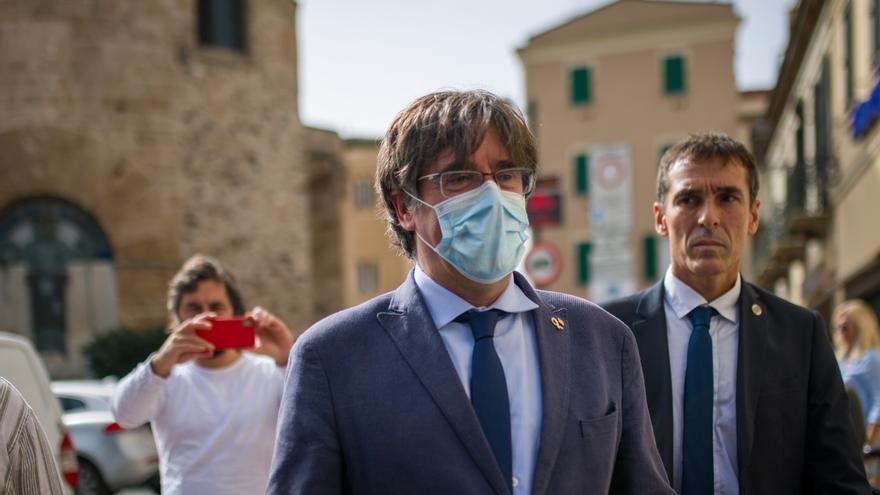 El expresident de la Generalitat Carles Puigdemont en L'Alguer, Cerdeña (Italia)
