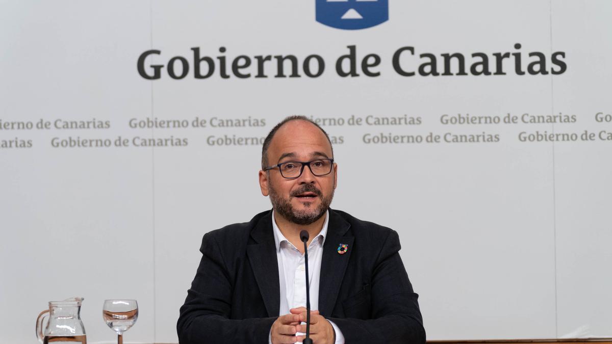 El consejero de Transición Ecológica del Gobierno de Canarias, José Antonio Valbuena