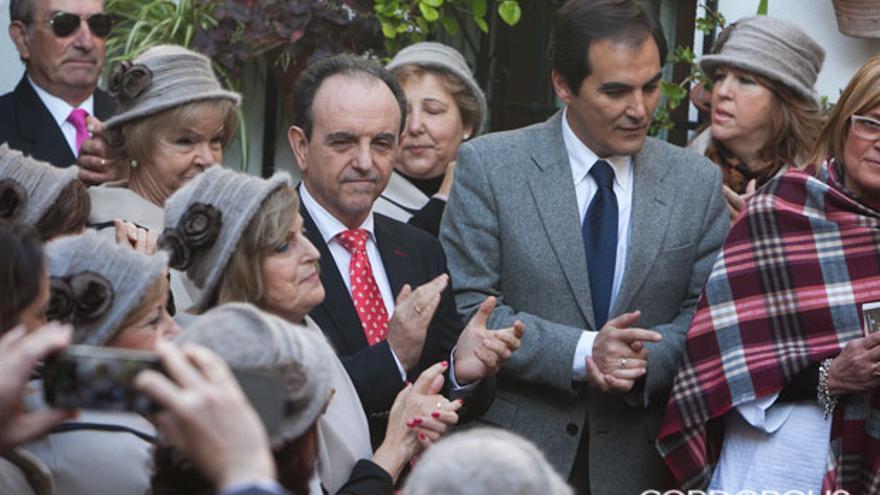 El consejero Rafael Rodríguez en el patio de Martín de Roa, 7 | MADERO CUBERO