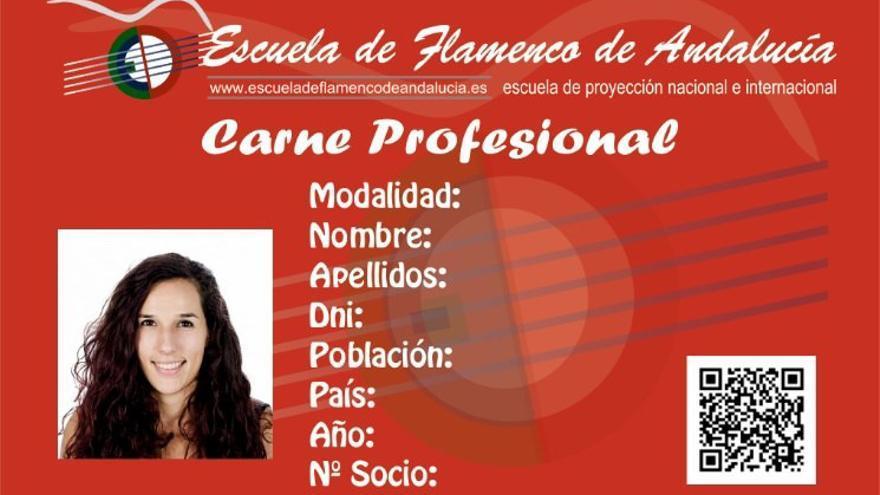 Este sería el modelo del Carnet Flamenco