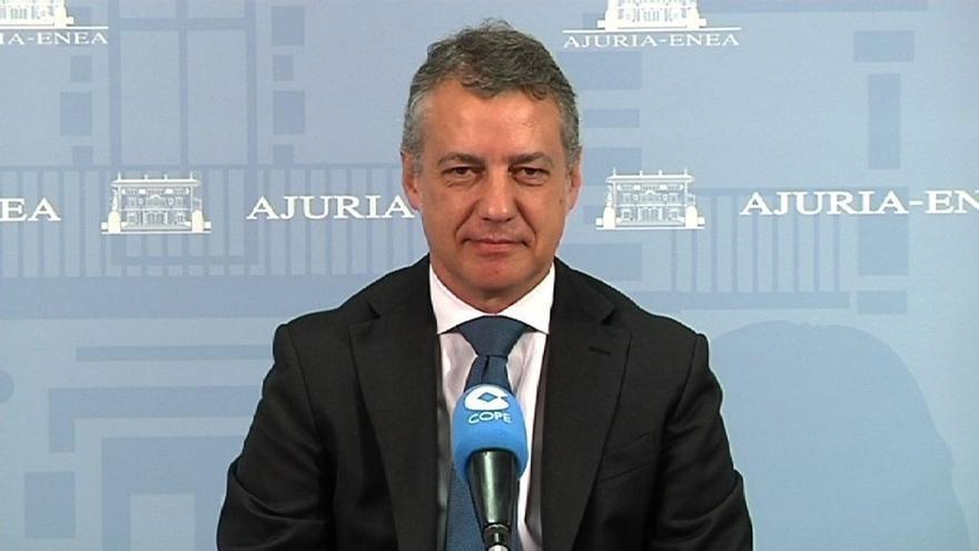 """Urkullu exige a ETA """"que no demore más su desarme"""" y dice que desea un gesto en los próximos seis meses"""