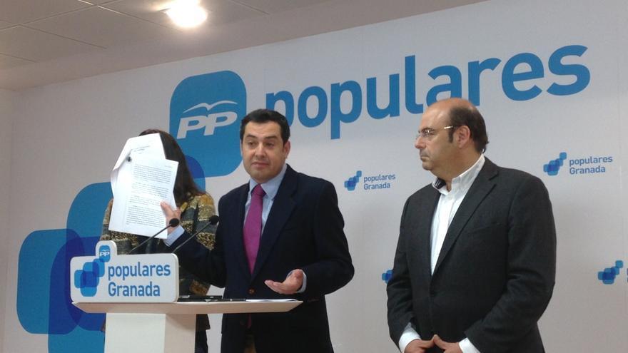 """Moreno (PP) pide al PSOE que sea """"valiente"""" y actúe de forma """"inmediata"""" contra Chaves y Griñan tras el auto del TS"""