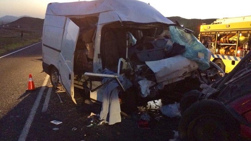 Accidente en Gran Tarajal. (Twitter Ftv Emergencias)