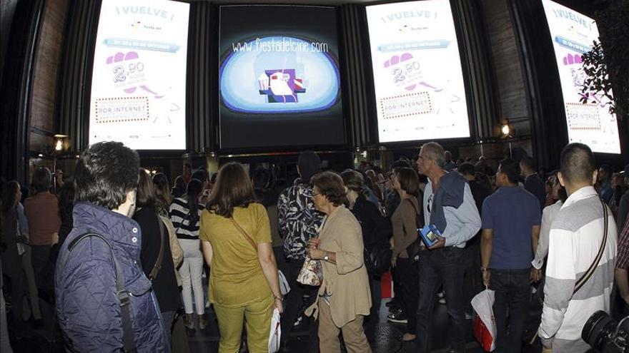 Vuelve la Fiesta del Cine, esta vez cuatro días, con películas a 2,90 euros