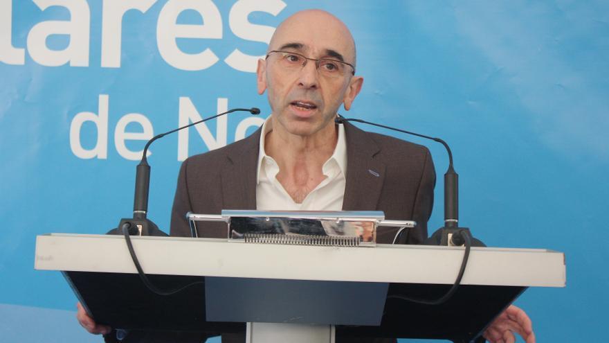 Jesús Díaz, alcalde de Noja, durante un mitin electoral.