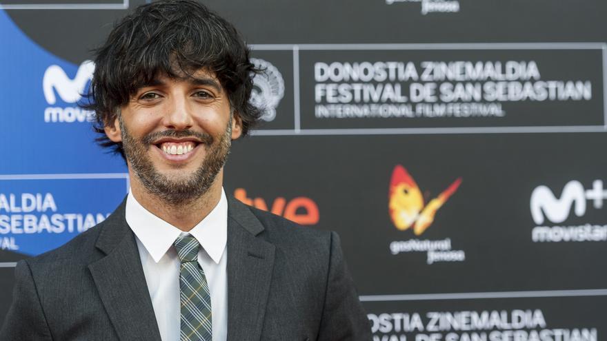 Diego San José, guionista de 'Fe de etarras', en el photocall del Festival de San Sebastián