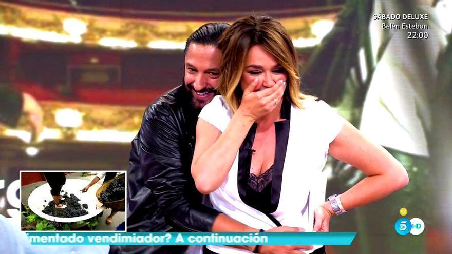 El hilarante lapsus de Toñi Moreno con Rafael Amargo en Telecinco