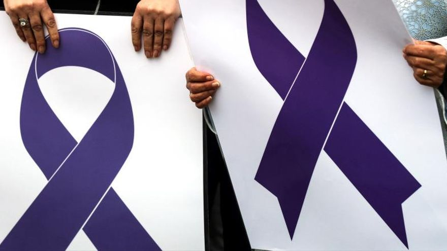 Imagen de una concentración contra la violencia machista.