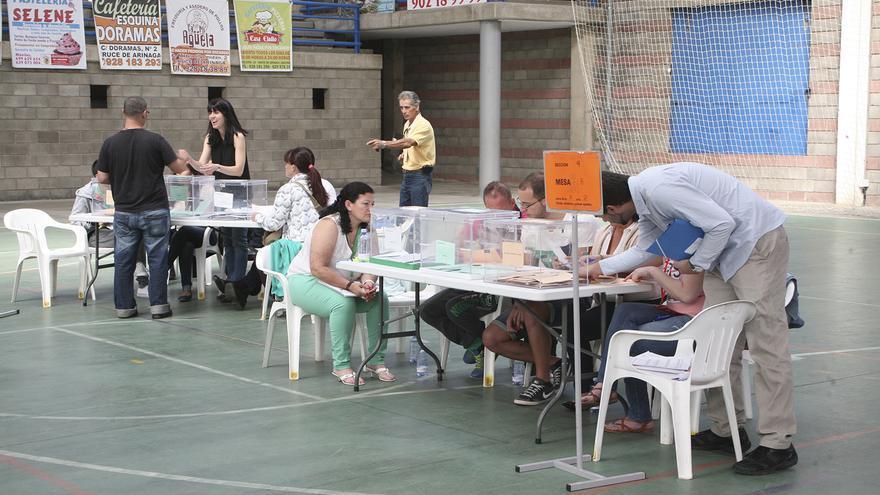 Jornada electoral en el Cruce de Arinaga