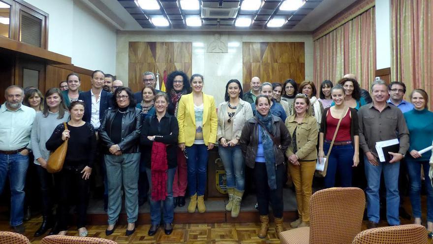 En la imagen, los miembros del Consejo Insular de Servicios Sociales tras la reunión constituyente.