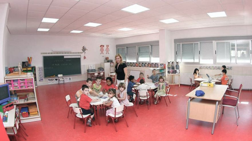 Una de las aulas experimentales en funcionamiento, con niños de 2-3 años