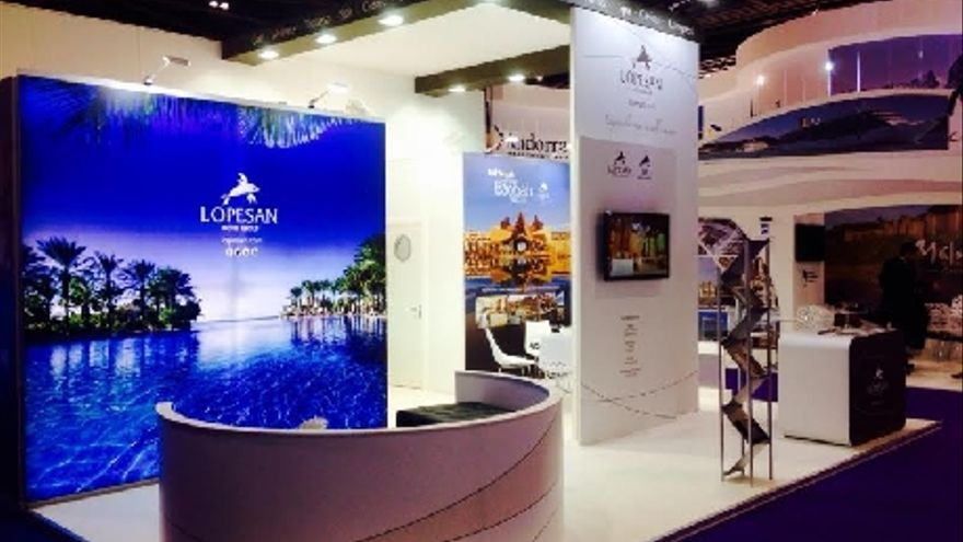Stand de Lopesan en la World Travel Market.