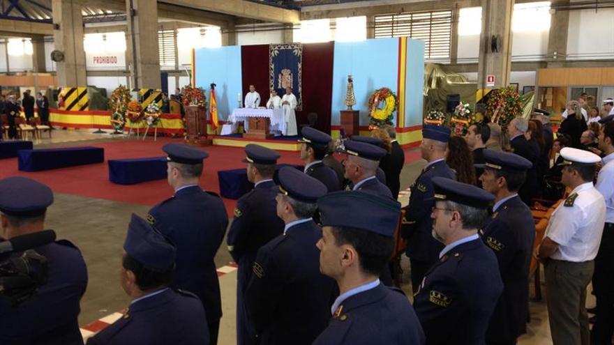 Ceremonia por los militares fallecidos en el helicóptero del SAR. Europa Press.