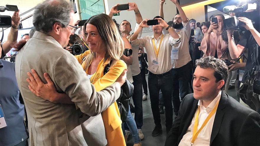 Quim Torra y Artur Mas llegan a la Assemblea del PDeCAT