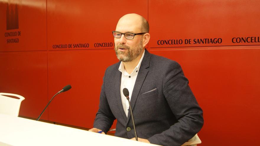 Martiño Noriega, alcalde de Santiago, este viernes en rueda de prensa