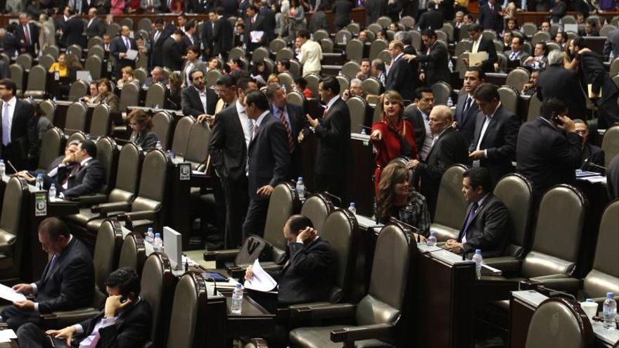 Vista general del pleno de la Cámara de Diputados hoy, jueves 13 de diciembre del 2012, en Ciudad de México.