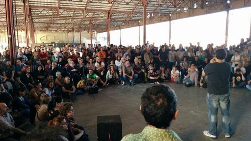 Asamblea de Podemos en Valencia tras las elecciones europeas.