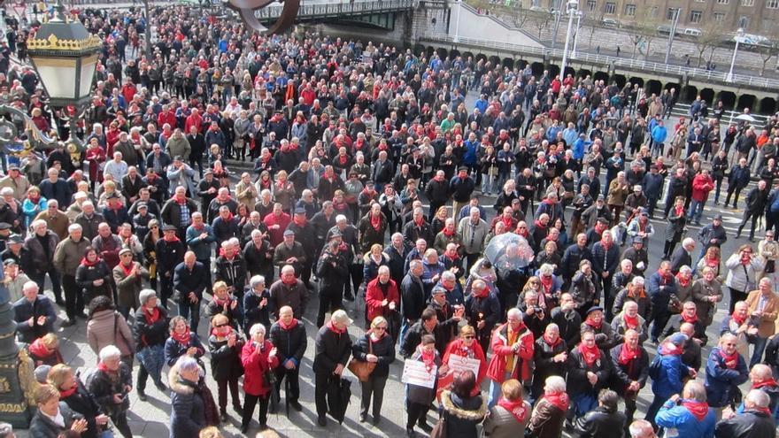 Pensionistas vascos pedirán el 28 de marzo a la consejera de Trabajo que el Gobierno Vasco complemente las prestaciones