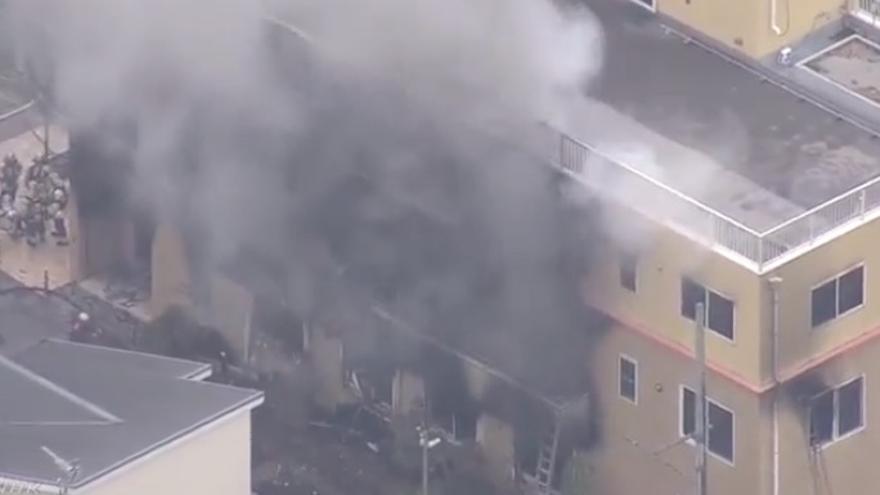 Varios muertos por un incendio provocado en unos estudios de animación en Japón