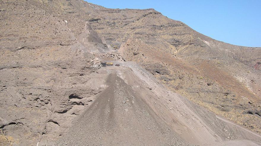 Obras de la carretera de La Aldea, Gran Canaria. (Foro Roque Aldeano).