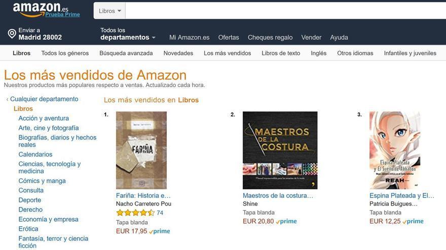 'Fariña' dispara sus ventas en Amazon tras la orden de 'secuestro' de una jueza