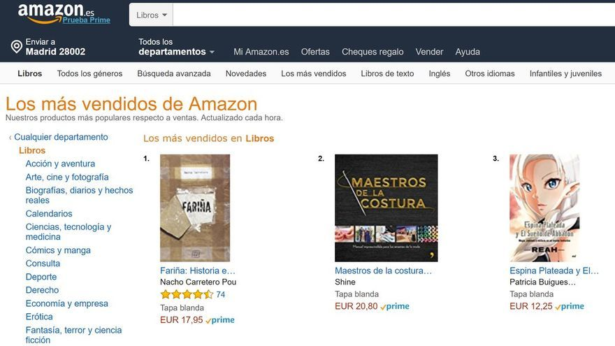 'Fariña' dispara sus ventas en Amazon