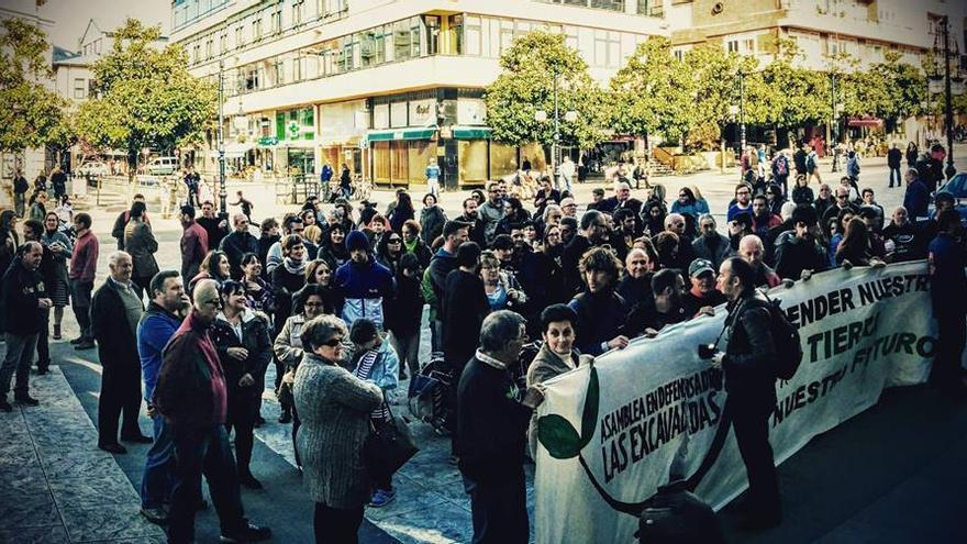 Una de las concentraciones de protesta convocada por la plataforma.