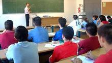 Aula durante una clase en la Universidad de Extremadura.