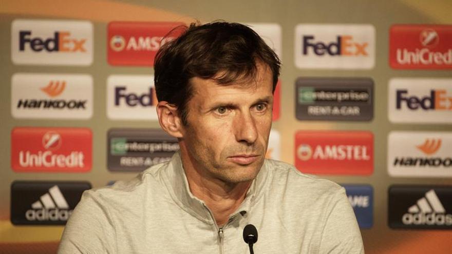 El entrenador del Athletic Club José Ángel Ziganda.