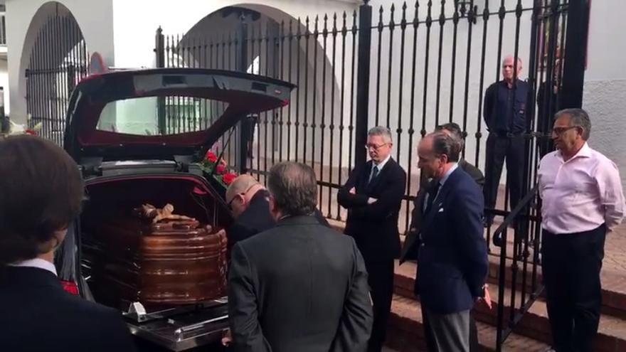 Alberto Ruiz Gallardón, en el funeral de Utrera Molina.
