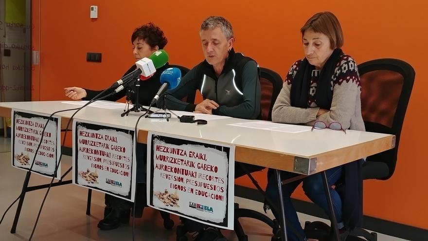 LAB, Steilas y ELA se movilizarán en las próximas semanas para pedir más presupuesto para Educación