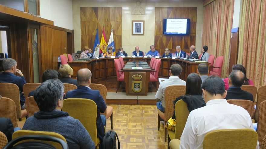 Consejo Asesor de Radio Ecca La Palma celebrado este martes  el Cabildo Insular, presidido por Anselmo Pestana.