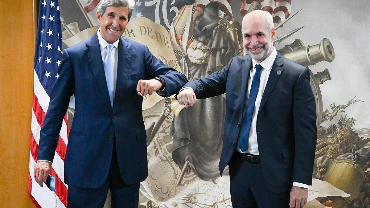 Rodríguez Larreta y John Kerry se reunieron en Washington