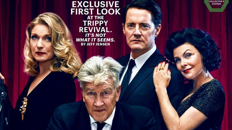 El reparto original de 'Twin Peaks' junto a David Lynch