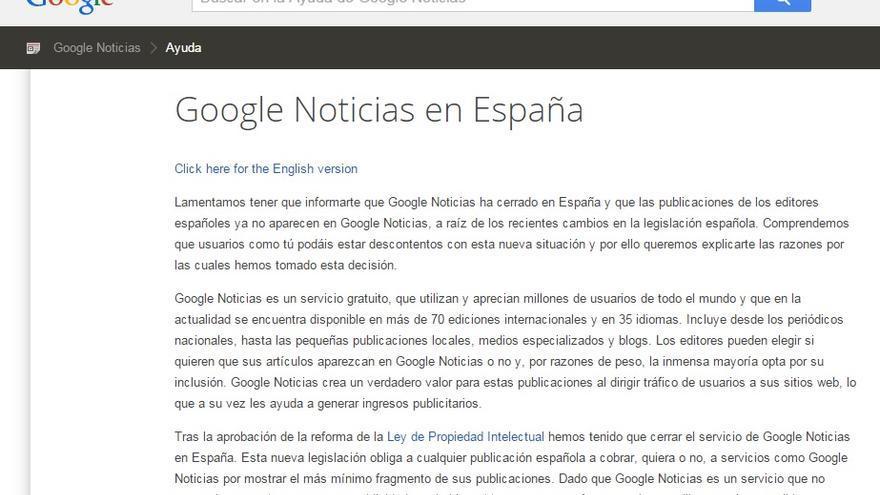 Anuncio publicado en Google News