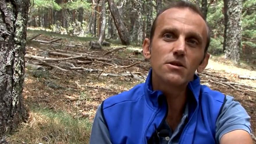 Alberto Ayora (fotograma del DVD publicado por campobase: 'Técnicas de Seguridad en Montaña - Parte II).