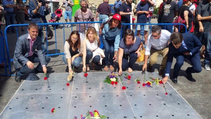 Acto conmemorativo en la plaza 25 de mayo en el año 2017