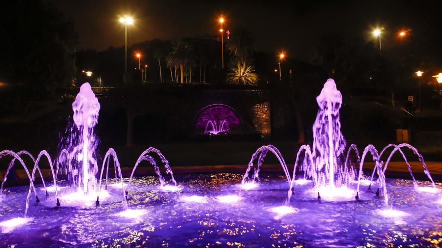 Luces de colores y una mejora integral: así luce la renovada fuente del Parque Doramas