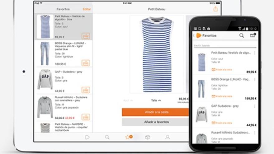 Imagen de la aplicación móvil de Zalando.