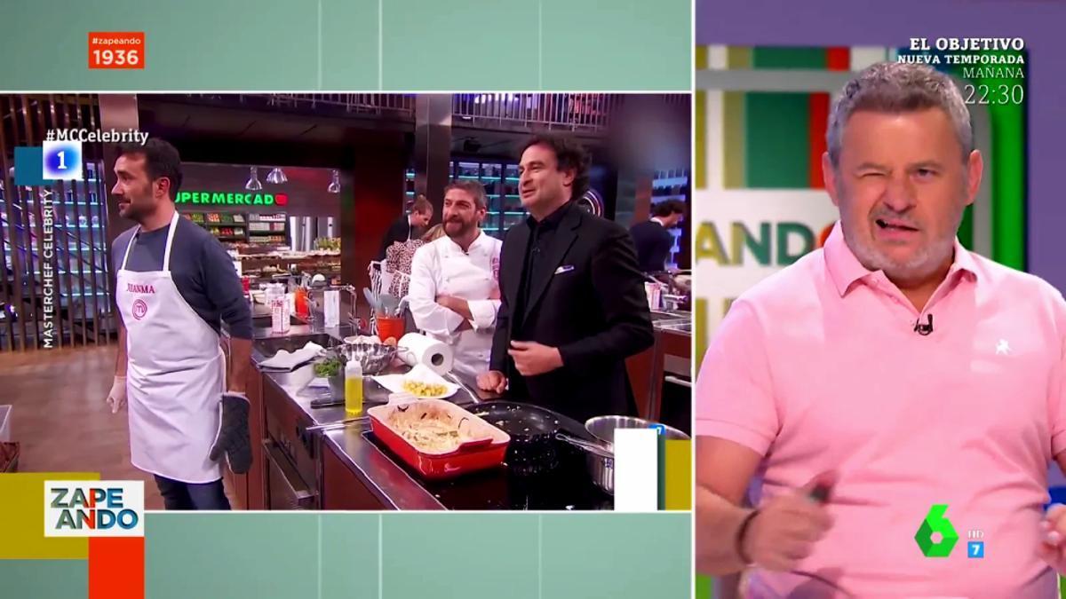 Miki Nadal hablando sobre 'MasterChef' en 'Zapeando'