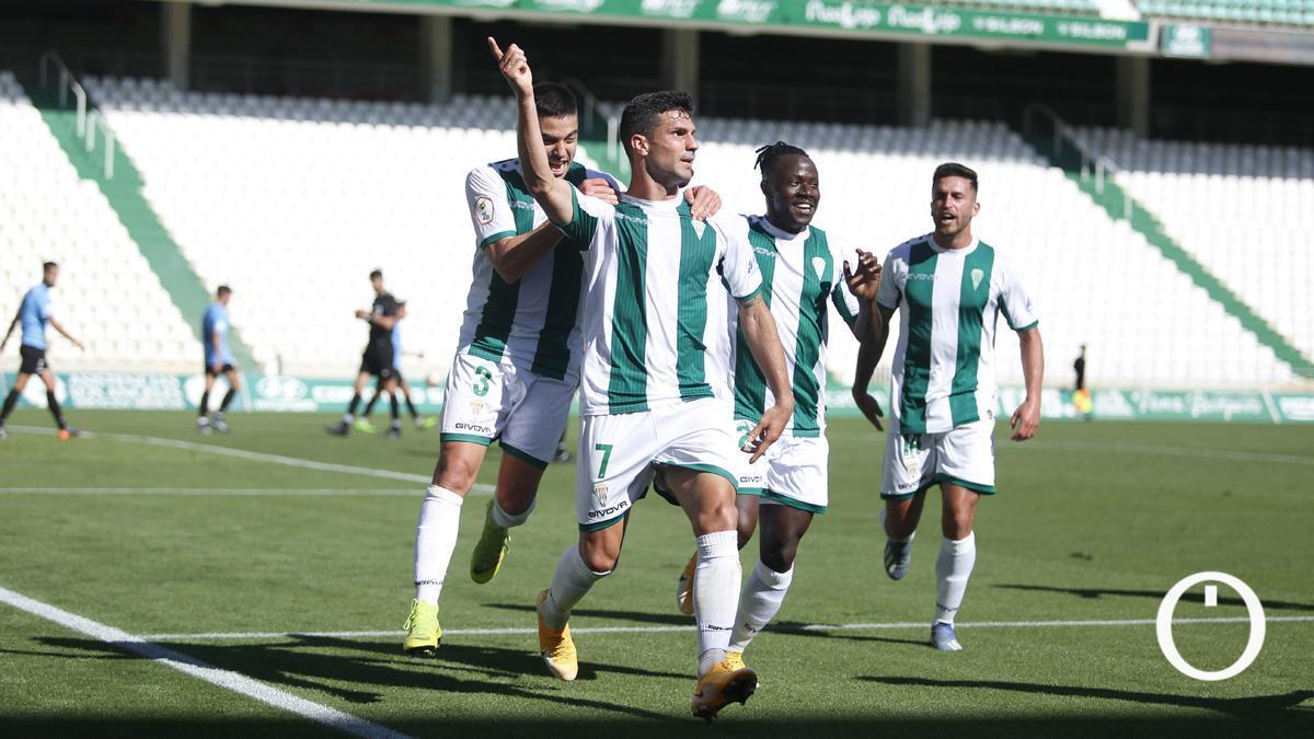 Willy celebrando su gol ante el Linense