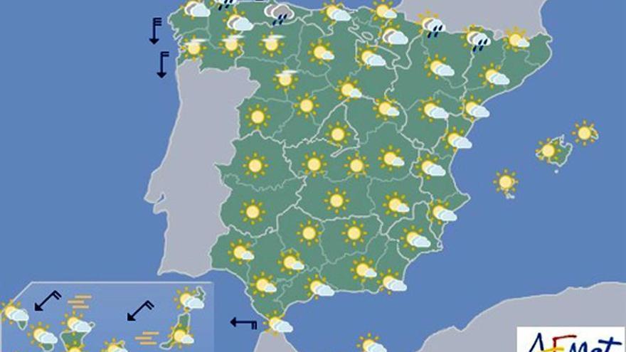 Persiste el calor en Canarias, el sur y el este, y tormentas en Pirineos