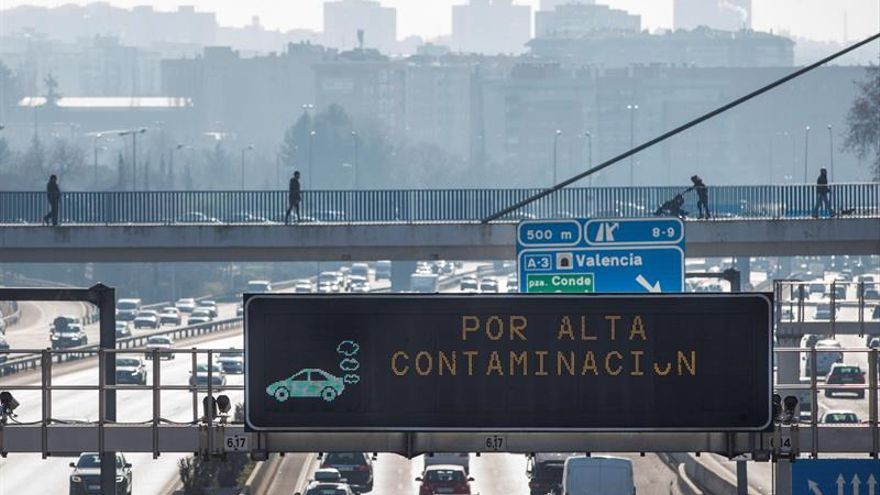 Madrid desactiva mañana el límite de velocidad por alta contaminación