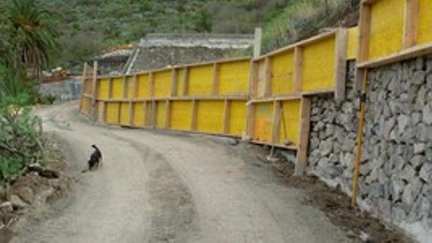 Las obras ejecutadas en la zona conocida como Huerta Roja. (CANARIAS AHORA)