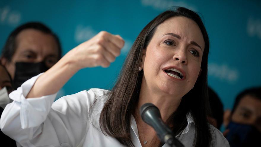 """La opositora Machado solo participará en una negociación que """"libere"""" a Venezuela"""