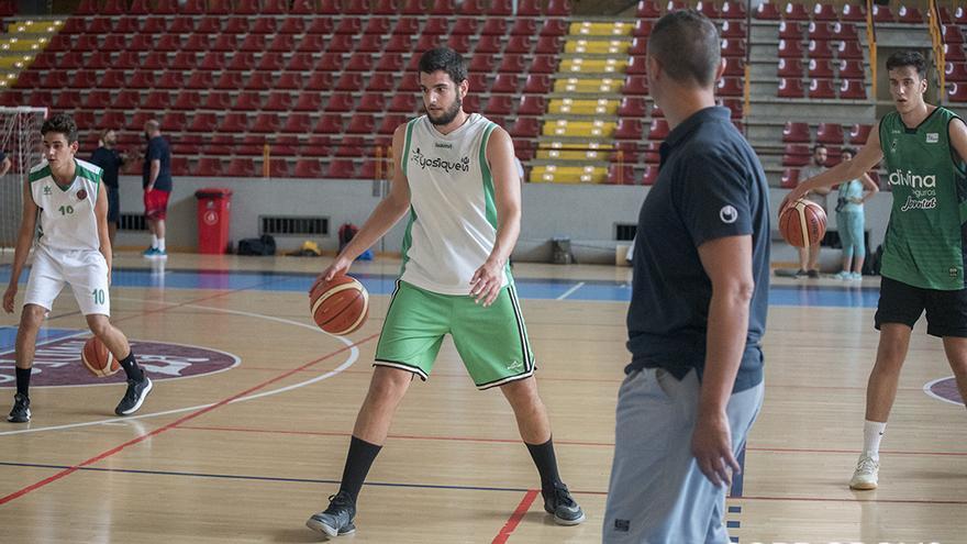 Joselito Gutiérrez, en un entrenamiento a las órdenes de Lázaro | TONI BLANCO
