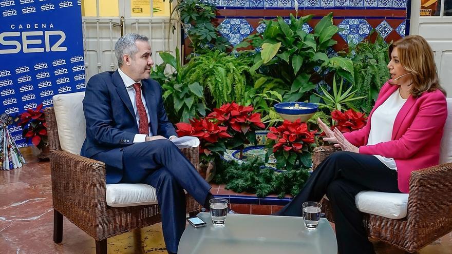 """Susana Díaz: """"A la derecha y a Podemos les encantaría que no pudiera dirigir ni Andalucía"""""""